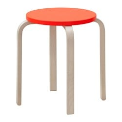 FROSTA stool, orange red Tested for: 110 kg Seat diameter: 35 cm Width: 42 cm