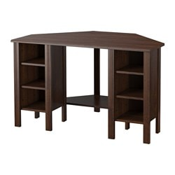 Brusali Corner Desk Brown Ikea Family