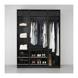 Ordinaire PAX Wardrobe, Black Brown