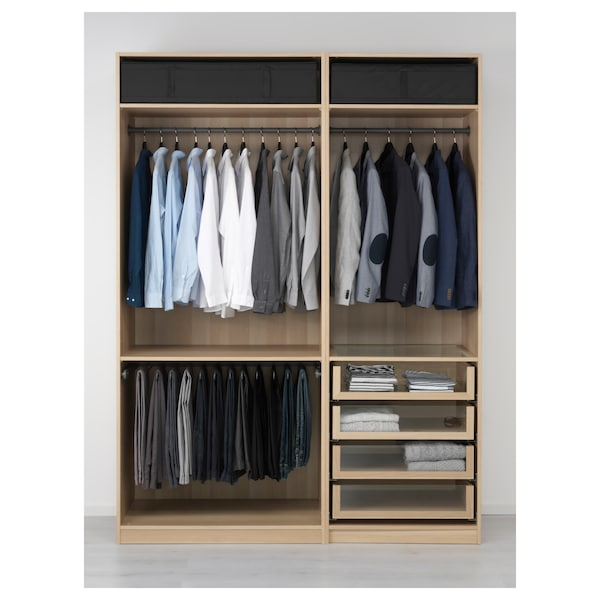 Wardrobe Pax White Stained Oak Effect