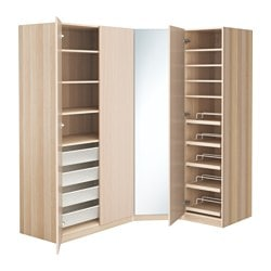 PAX wardrobe, white stained oak effect, Nexus Vikedal Depth: 60 cm Height: 201.2 cm Width right: 146 cm