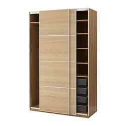 PAX, Wardrobe, oak effect, Ilseng oak veneer