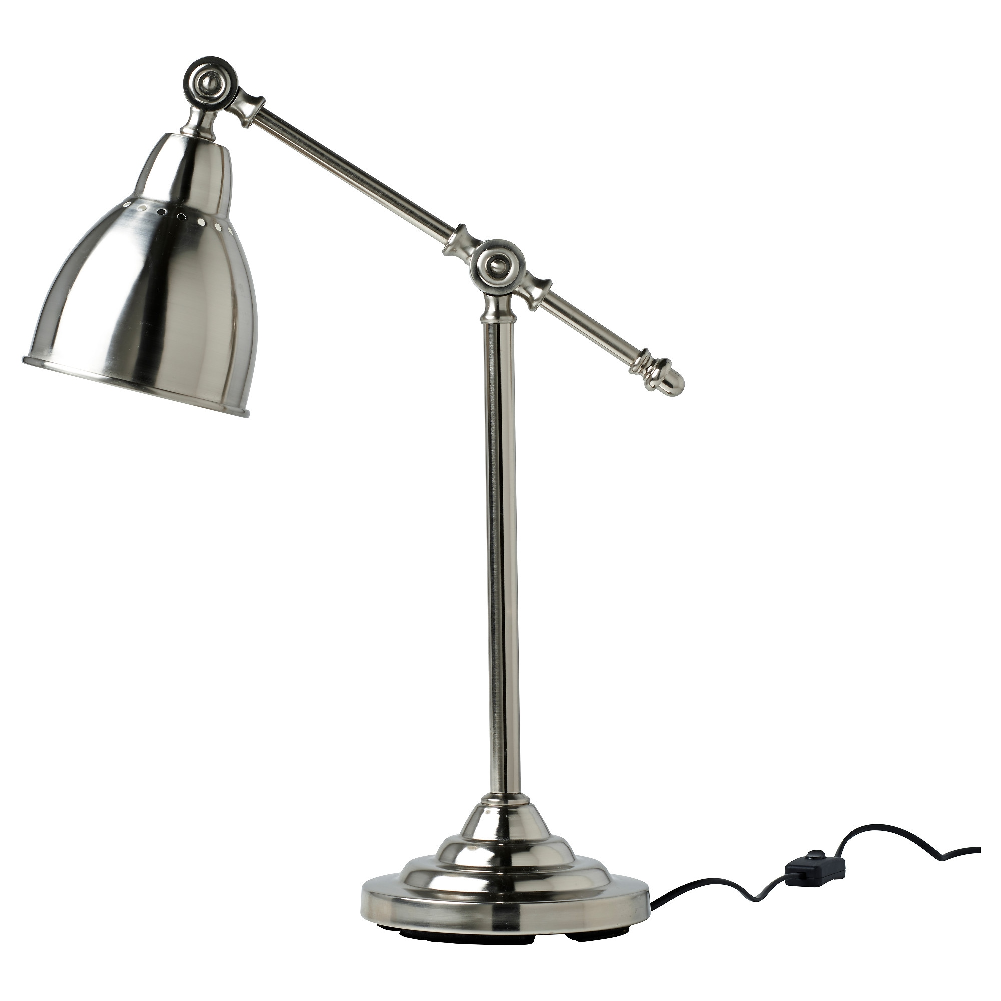 Ikea led desk lamp - Barometer Work Lamp With Led Bulb Nickel Plated Height 17 Base Diameter