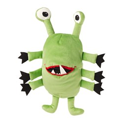 "SAGOSKATT glove puppet, green, monster Length: 12 "" Length: 30 cm"