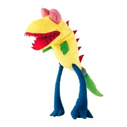 SAGOSKATT glove puppet, yellow, monster Length: 40 cm