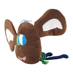 "SAGOSKATT soft toy, brown Length: 19 "" Length: 48 cm"