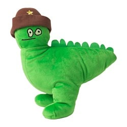 "SAGOSKATT soft toy, green, dinosaur Length: 13 "" Length: 33 cm"
