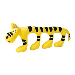 "SAGOSKATT soft toy, yellow, tiger Length: 29 ½ "" Length: 75 cm"