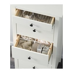 Hemnes 5 Drawer Chest White Stain