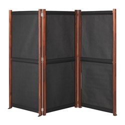 SLÄTTÖ privacy screen, outdoor, black, brown stained Length: 211 cm Height: 170 cm