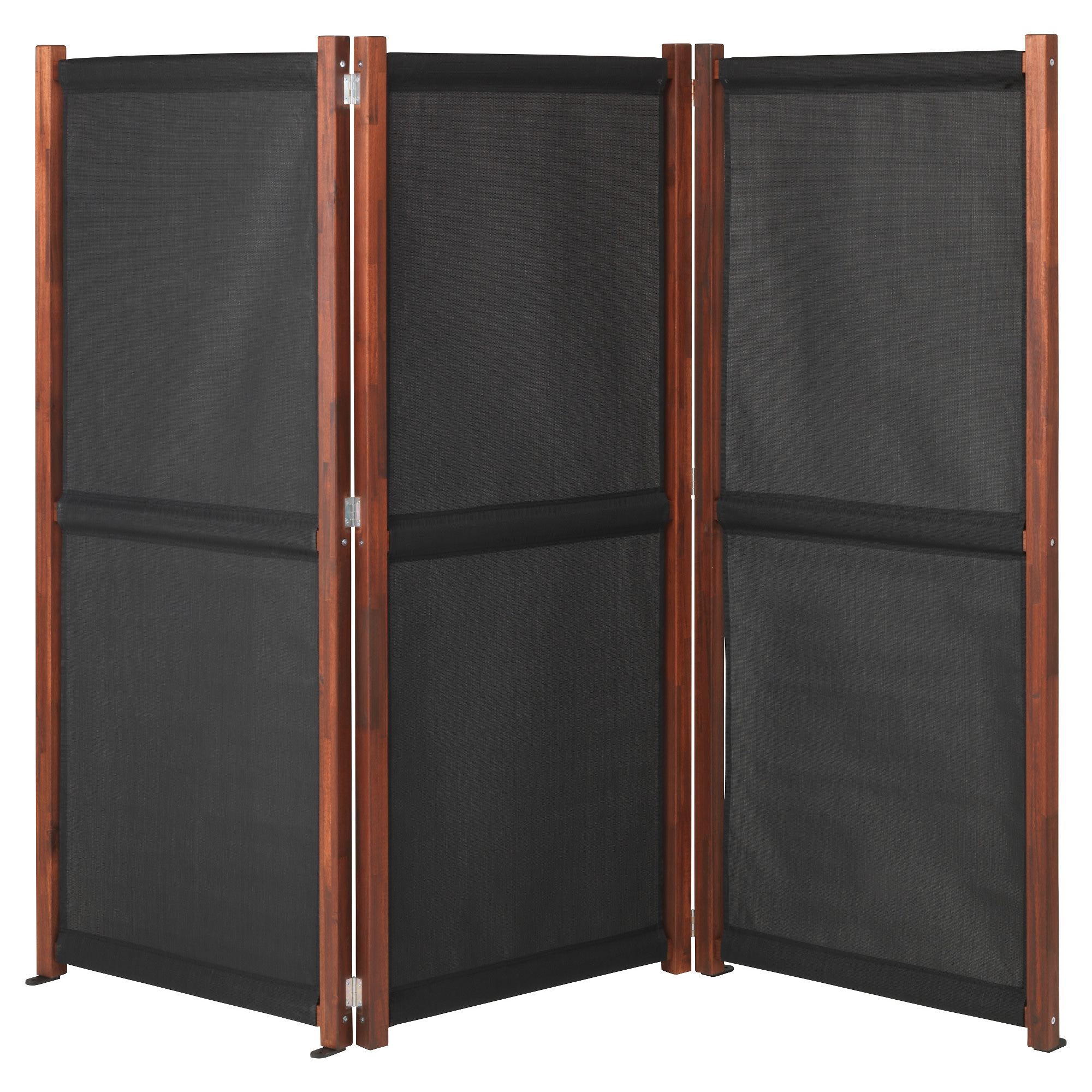 SlÄttÖ Privacy Screen Outdoor Black Brown Stained