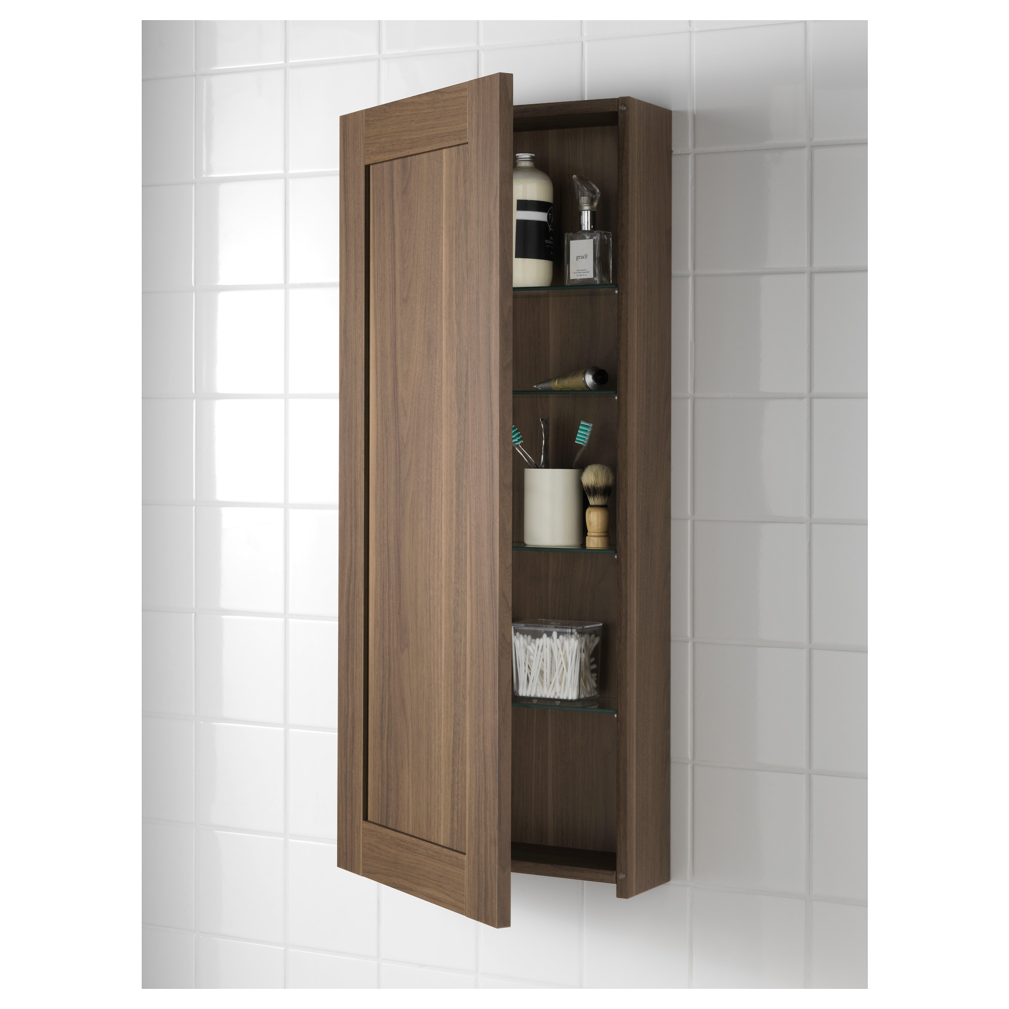 Wall Cupboards godmorgon wall cabinet with 1 door - black-brown - ikea
