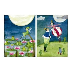 TVILLING poster, set of 2, the frog prince Width: 30 cm Height: 40 cm