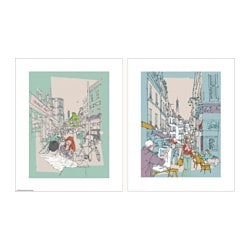 TVILLING poster, set of 2, hinterland London Width: 40 cm Height: 50 cm