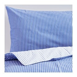 RÖDNARV quilt cover and 4 pillowcases, blue, stripe Pillowcase quantity: 4 pack Quilt cover length: 220 cm Quilt cover width: 240 cm
