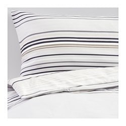 "PALMLILJA duvet cover and pillowcase(s), gray Thread count: 207 square inches Duvet cover length: 86 "" Duvet cover width: 86 "" Thread count: 207 square inches Duvet cover length: 218 cm Duvet cover width: 218 cm"