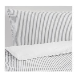 RÖDNARV quilt cover and 2 pillowcases, white, stripe Pillowcase quantity: 2 pack Quilt cover length: 200 cm Quilt cover width: 150 cm