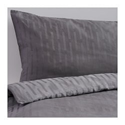 "STRANDGYLLEN duvet cover and pillowcase(s), gray Thread count: 315 square inches Duvet cover length: 64 "" Duvet cover width: 86 "" Thread count: 315 square inches Duvet cover length: 162 cm Duvet cover width: 218 cm"