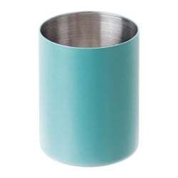 MJÖSA toothbrush mug, turquoise Height: 10 cm