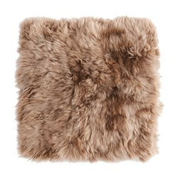 SKOLD, Cushion cover, sheepskin, beige