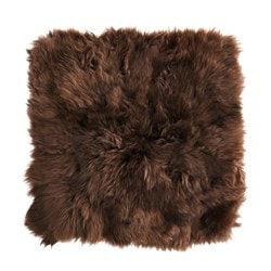 SKOLD cushion cover, sheepskin, brown Length: 50 cm Width: 50 cm Min. pile length: 5 cm