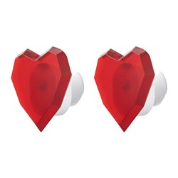 FIEFALL decoration lighting, red, heart Package quantity: 2 pieces