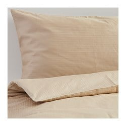 STORMÅRA quilt cover and 2 pillowcases, beige Thread count: 990 /inch² Pillowcase quantity: 2 pieces Quilt cover length: 200 cm