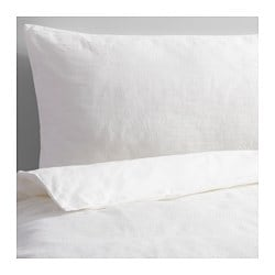 GULLKORNELL quilt cover and 2 pillowcases, white Thread count: 207 /inch² Pillowcase quantity: 2 pack Quilt cover length: 200 cm