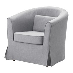TULLSTA armchair cover, Nordvalla medium gray