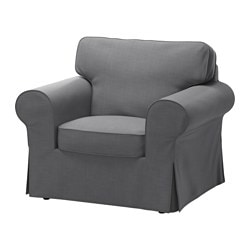 EKTORP armchair cover, Nordvalla dark grey