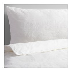 GULLKORNELL quilt cover and 4 pillowcases, white Thread count: 207 /inch² Pillowcase quantity: 4 pack Quilt cover length: 200 cm