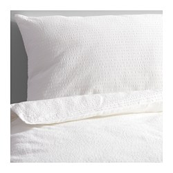 ROSENAPEL quilt cover and 4 pillowcases, white