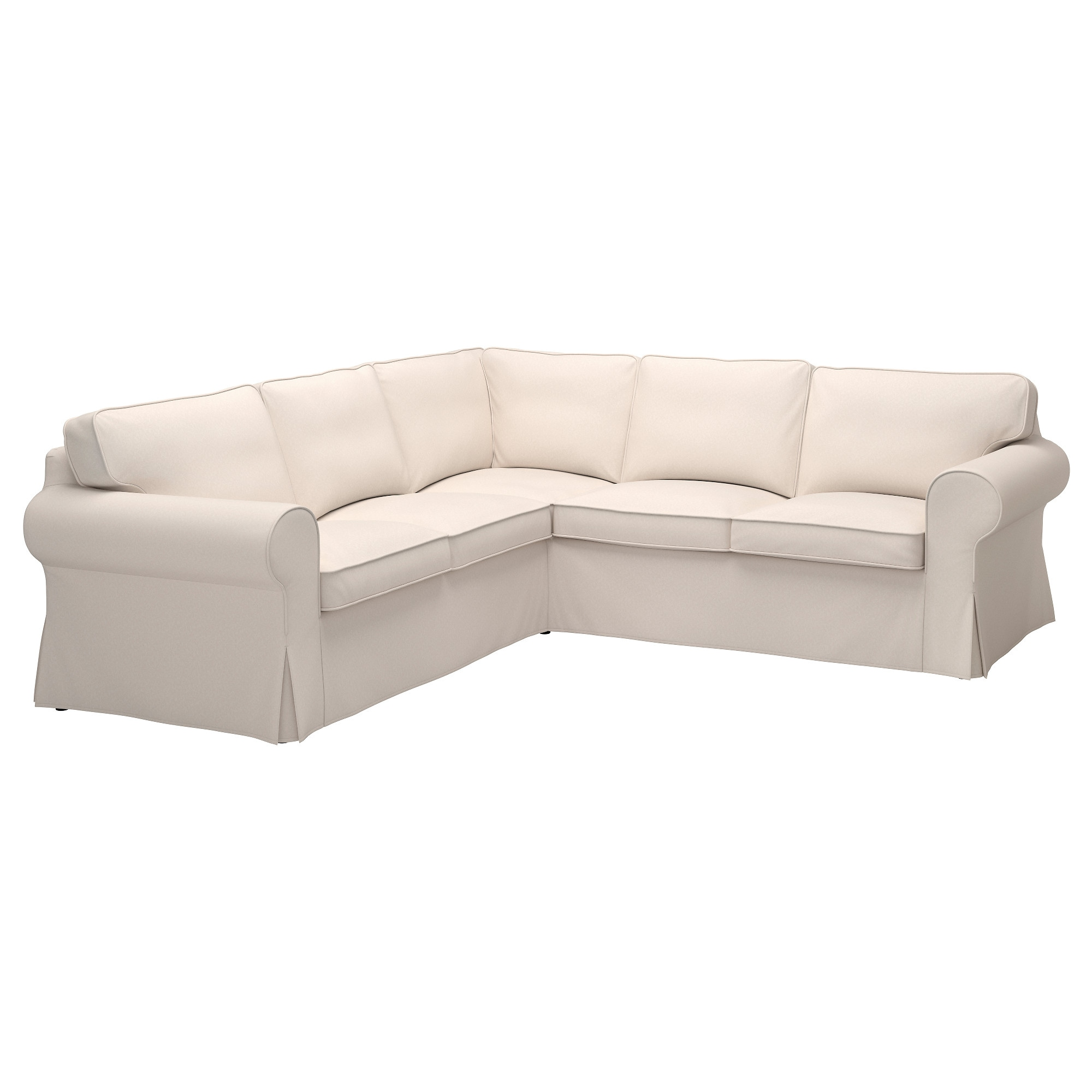 EKTORP Cover for sectional 4 seat Lofallet beige IKEA