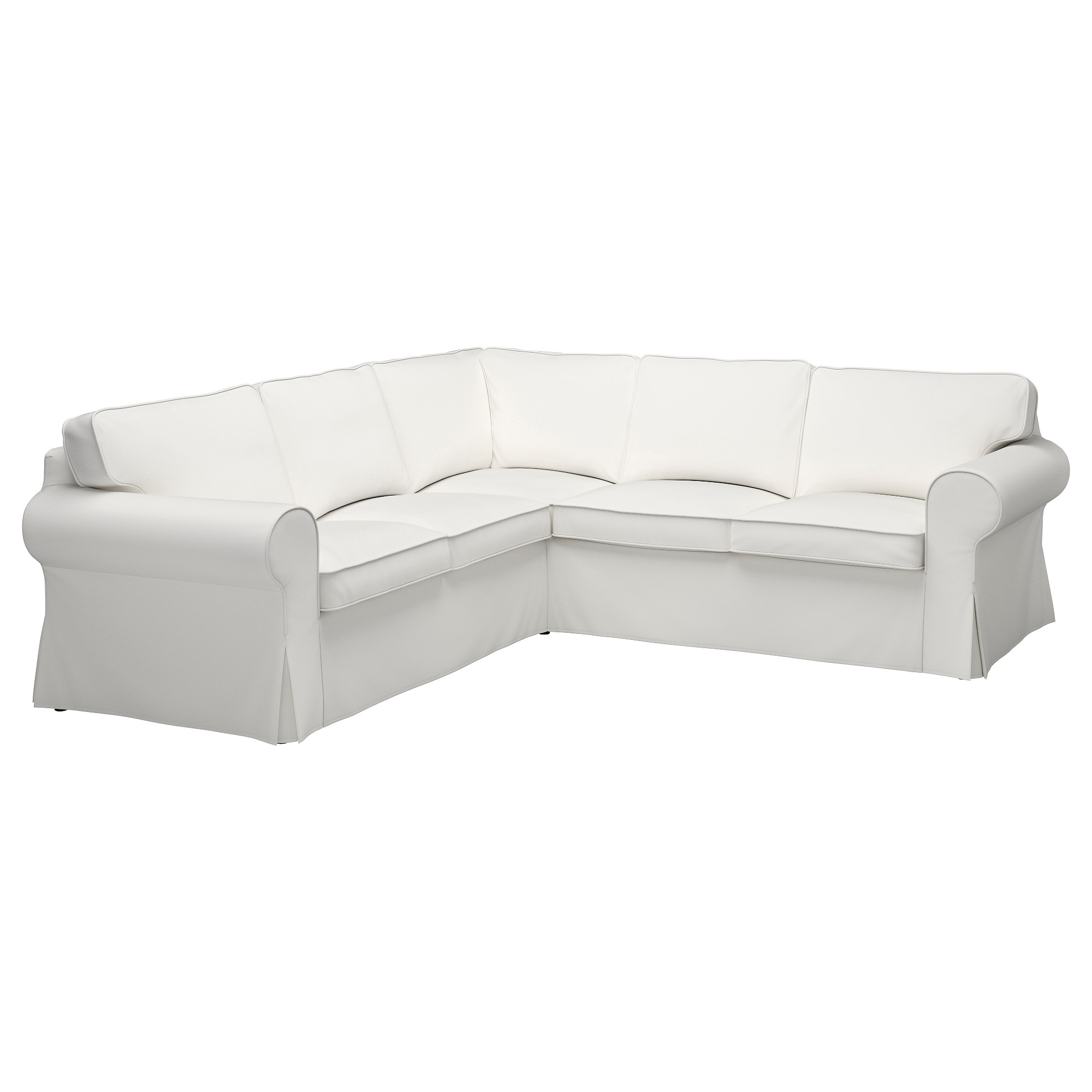 EKTORP Cover for 4 seat corner sectional Lofallet beige IKEA