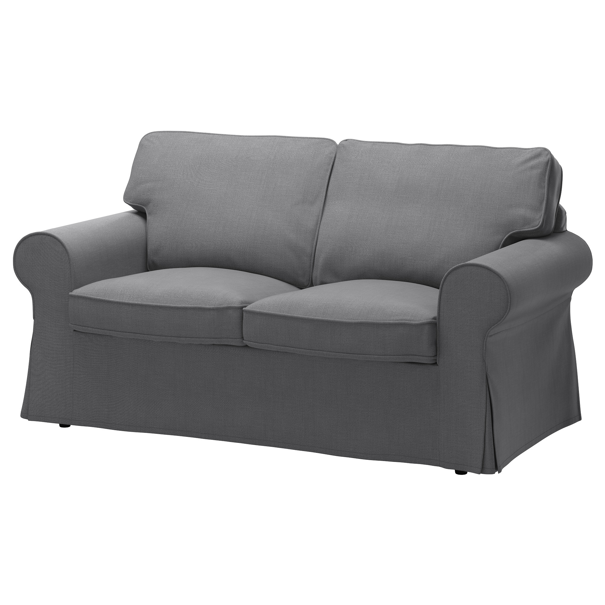 EKTORP Loveseat cover Nordvalla dark gray IKEA