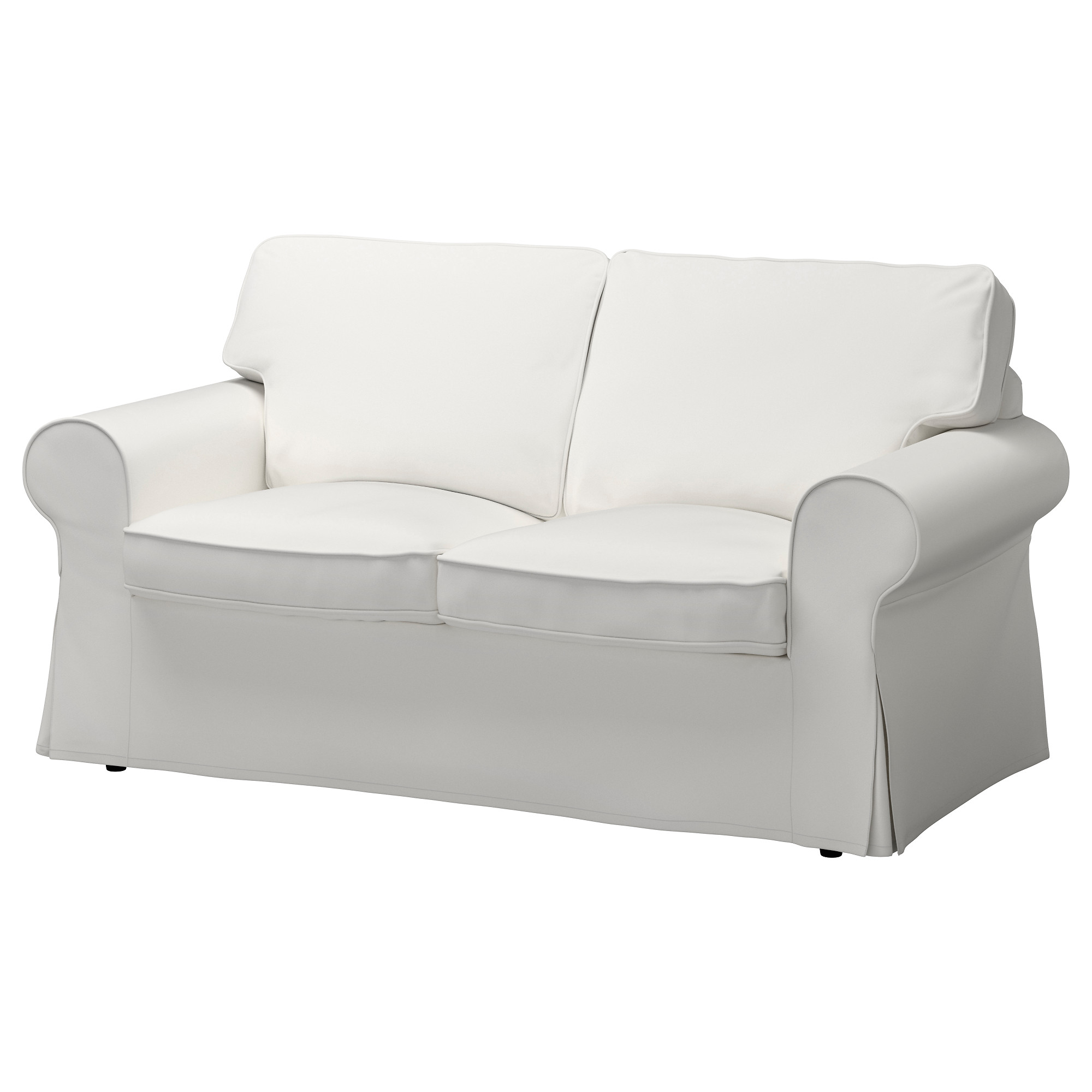 fabric sofas  modern  contemporary  ikea - ektorp loveseat vittaryd white width    depth
