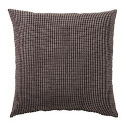 GULLKLOCKA, Cushion cover, grey