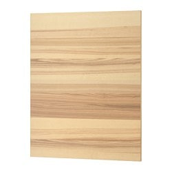 "TORHAMN cover panel, natural ash Width: 24 3/8 "" Height: 30 "" Thickness: 1/2 "" Width: 62.0 cm Height: 76.2 cm Thickness: 1.3 cm"