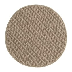 BADAREN bath mat, beige Diameter: 55 cm Area: 0.28 m² Surface density: 950 g/m²
