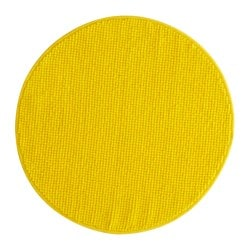 BADAREN bath mat, yellow Diameter: 55 cm Area: 0.28 m² Surface density: 950 g/m²