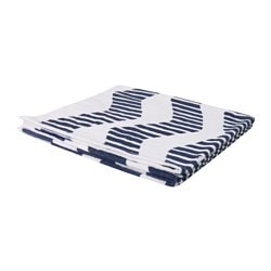 SOMMAR 2016 beach towel, white/blue Length: 180 cm Width: 100 cm Surface density: 380 g/m²