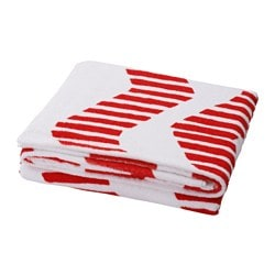 SOMMAR 2016 beach towel, white/red Length: 180 cm Width: 100 cm Surface density: 380 g/m²