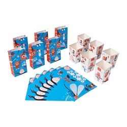 MYTISK 18-piece party set, blue