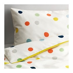 DRÖMLAND crib duvet cover/pillowcase, multicolor