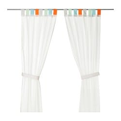 HIMMELSK Curtains with tie-backs, 1 pair $24.99