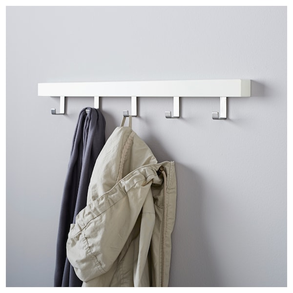 IKEA TJUSIG Wall/door rack with knobs