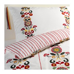 ÅKERKULLA quilt cover and 2 pillowcases, flower Pillowcase quantity: 2 pack Quilt cover length: 200 cm Quilt cover width: 150 cm