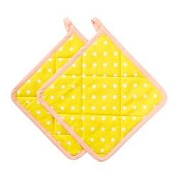 KACKLING pot holder, yellow Length: 25 cm Width: 25 cm Package quantity: 2 pieces