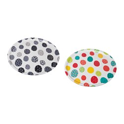 KACKLING tray, egg pattern assorted colours Diameter: 43 cm