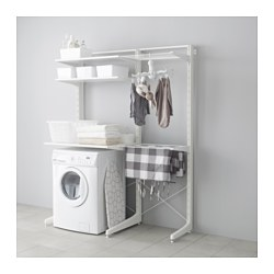ALGOT post/foot/drying rack, white Width: 147 cm Depth: 67 cm Height: 194 cm